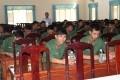 Tư vấn hướng nghiệp, học nghề cho bộ đội sắp xuất ngũ ở Bộ Chỉ huy Quân sự tỉnh Tây Ninh.